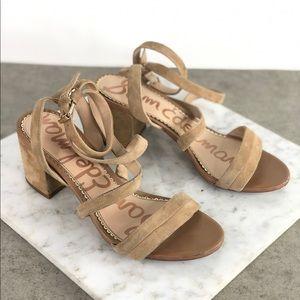 Sam Edelman Tan Nude Suede Strappy Heel Sandals